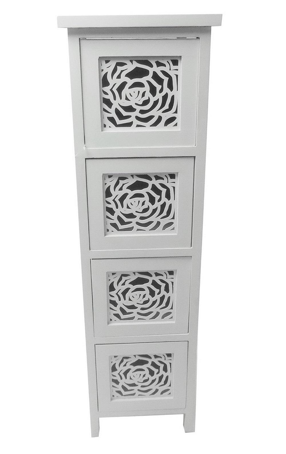 Slim Storage Cabinet With Drawers