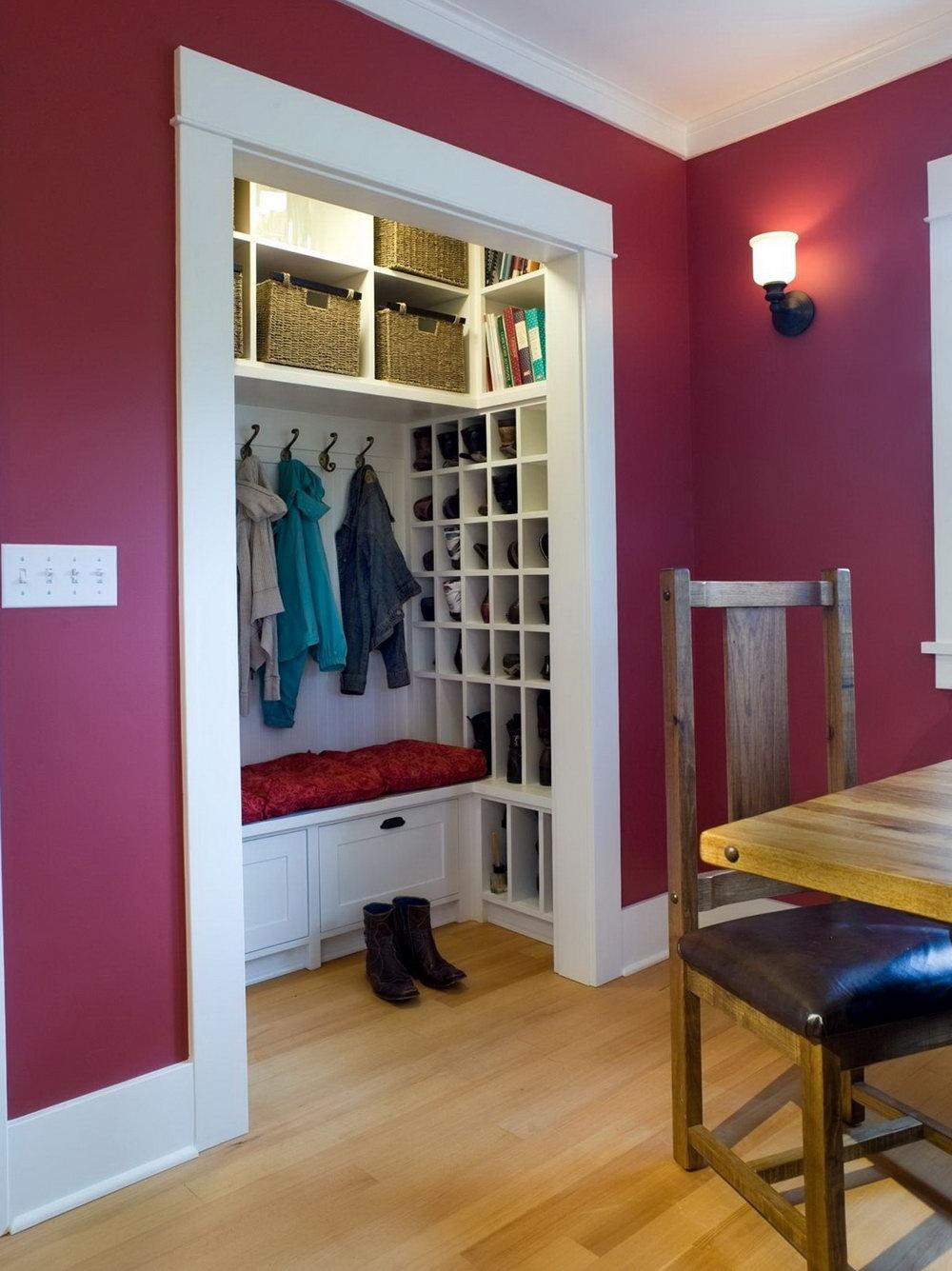Small Coat Closet Makeover