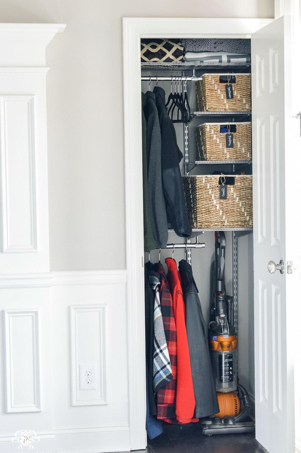 Small Entry Closet Organization