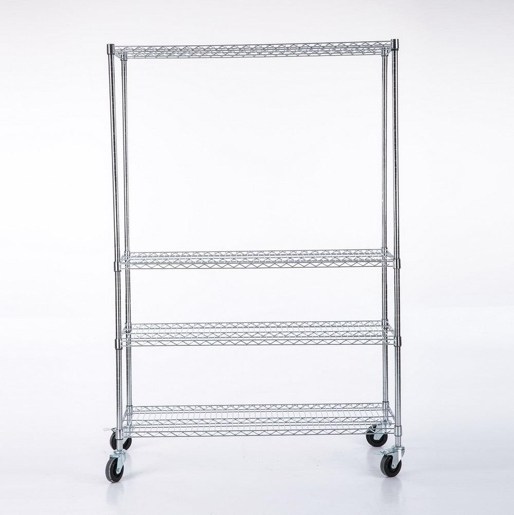 Steel Storage Cabinet With 4 Adjustable Shelves