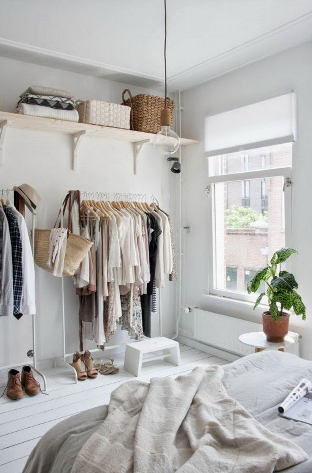 Storage Ideas For Small Bedrooms Without Closet