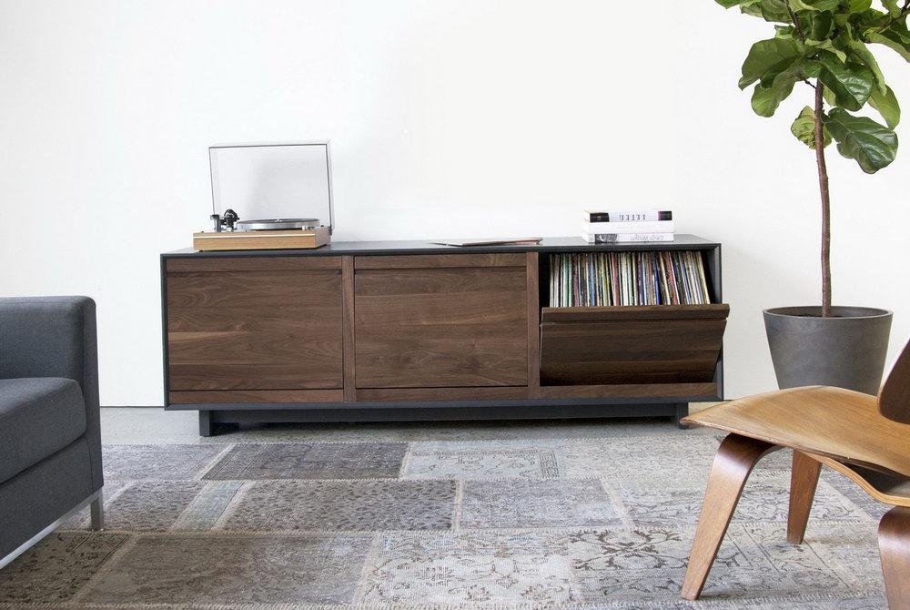 Vinyl Record Storage Cabinet