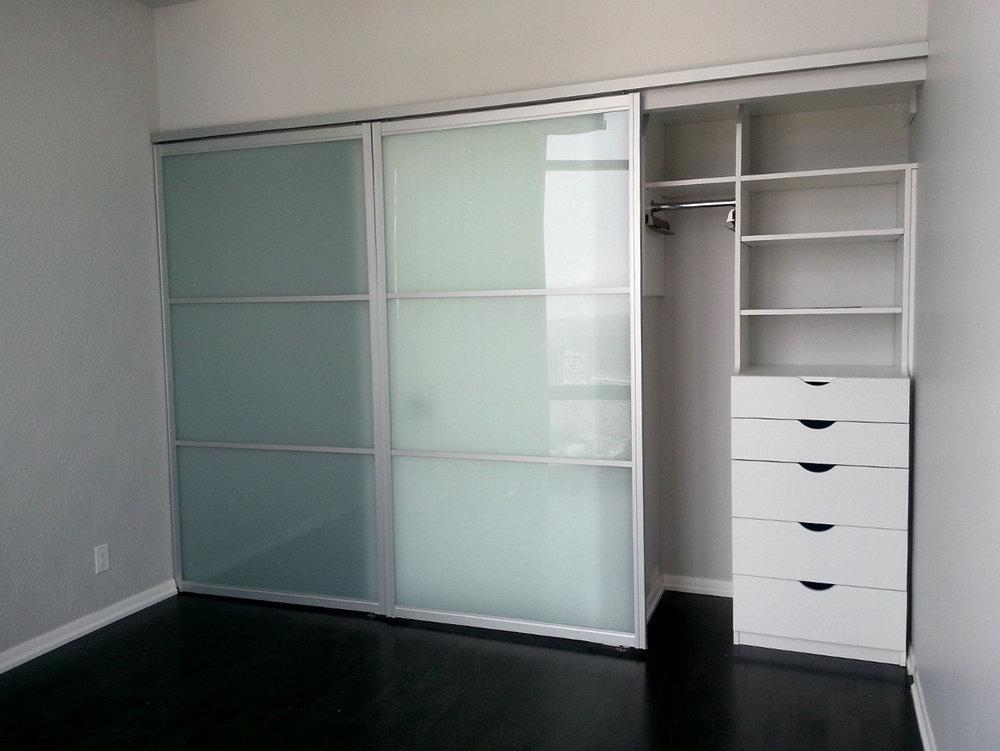 Wall Closet With Sliding Doors
