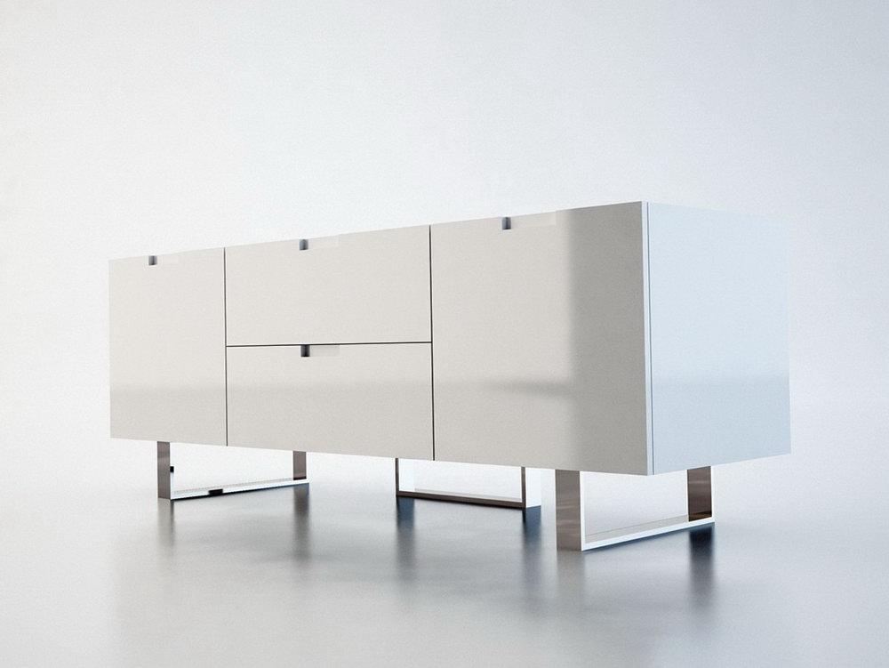 White Modern Storage Cabinet