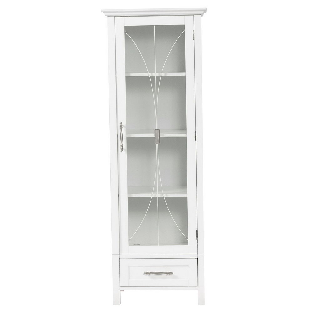 White Storage Cabinet With Doors And Shelves