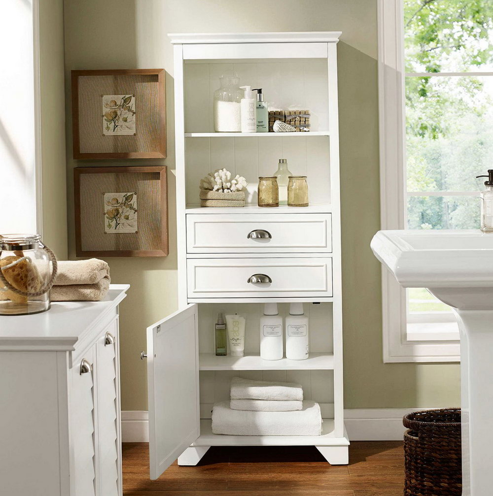 White Storage Cabinets At Home Depot
