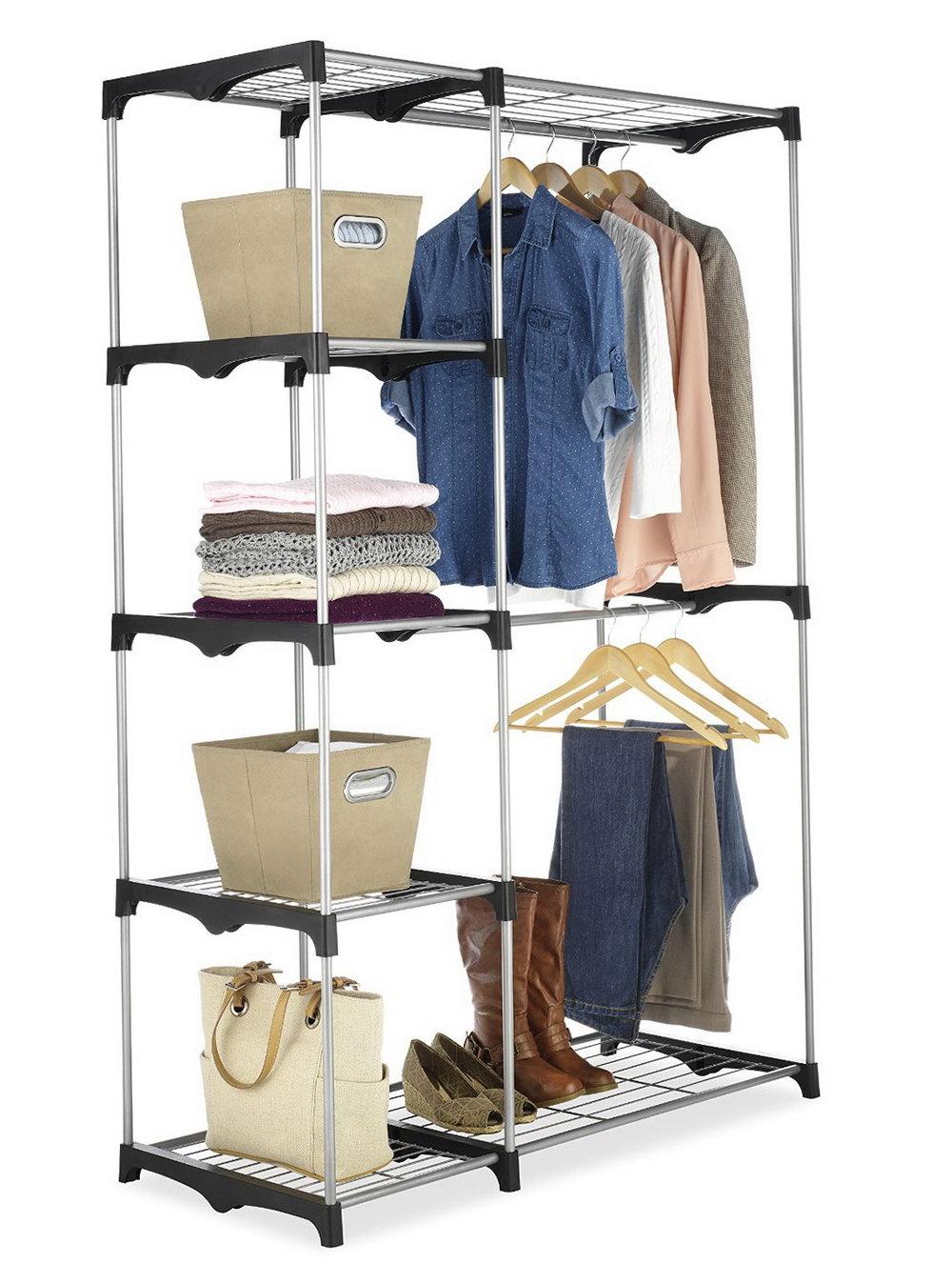 Whitmor Clothes Closet Wardrobe Blue