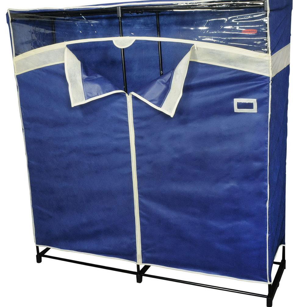 Whitmor Clothes Closet With Blue Fabric Cover