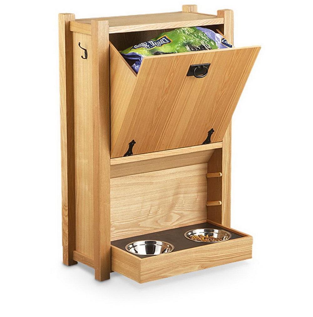 Wooden Dog Food Storage Cabinet