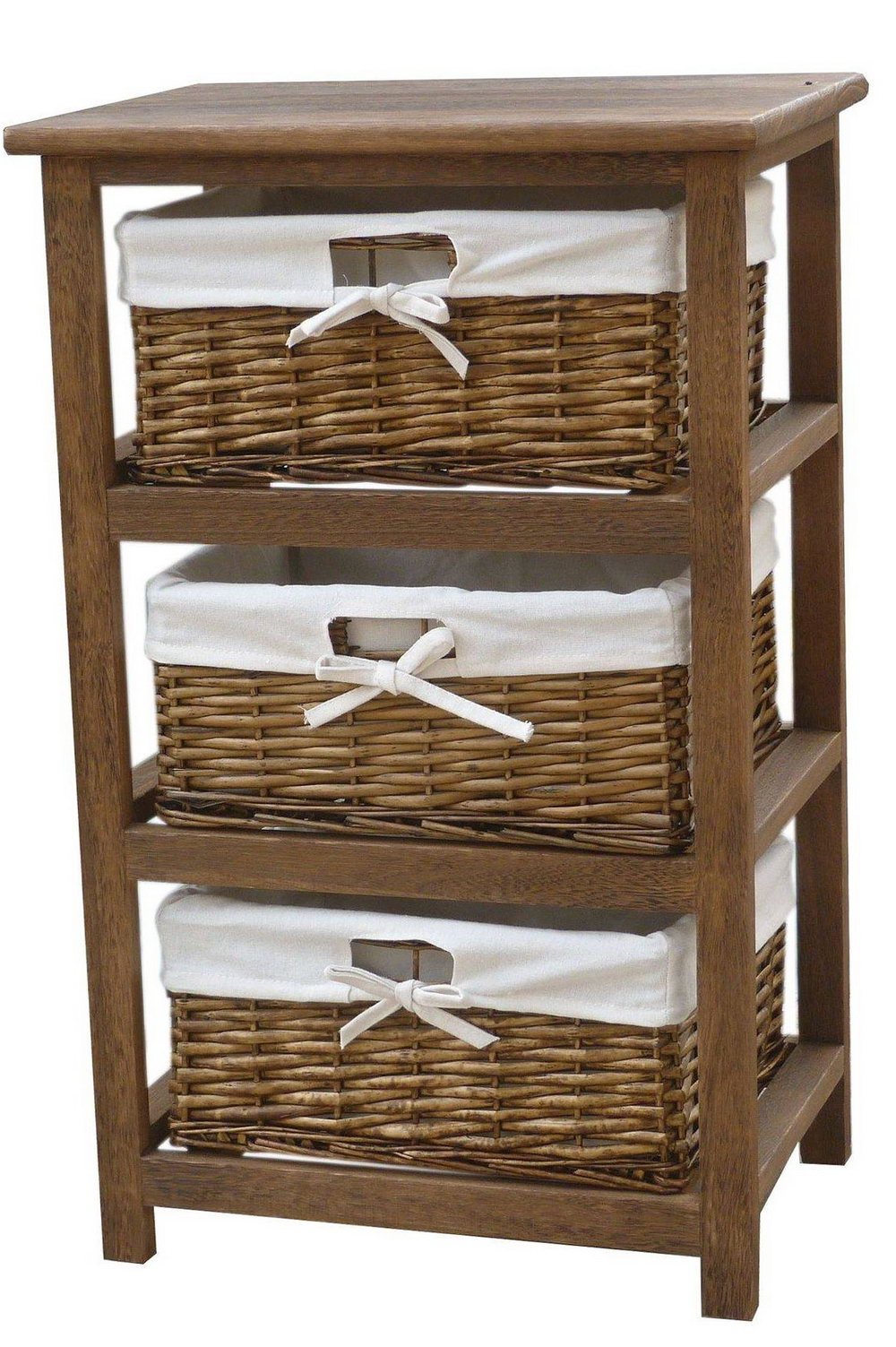 Wooden Storage Cabinets With Baskets