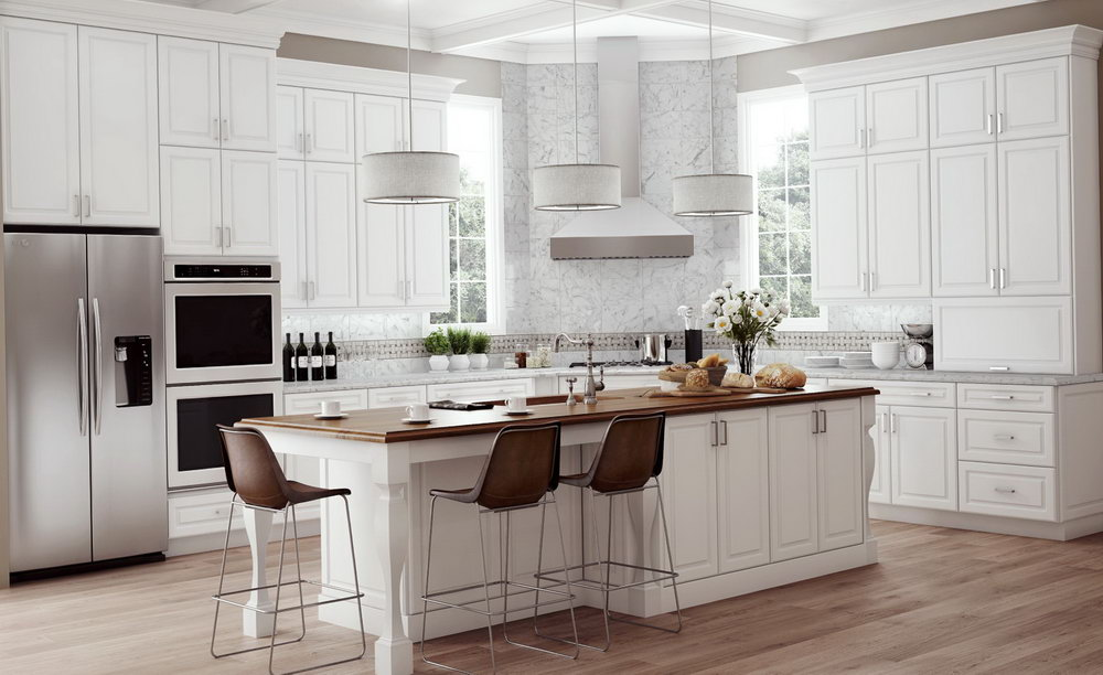 Antique White Kitchen Cabinets Home Depot