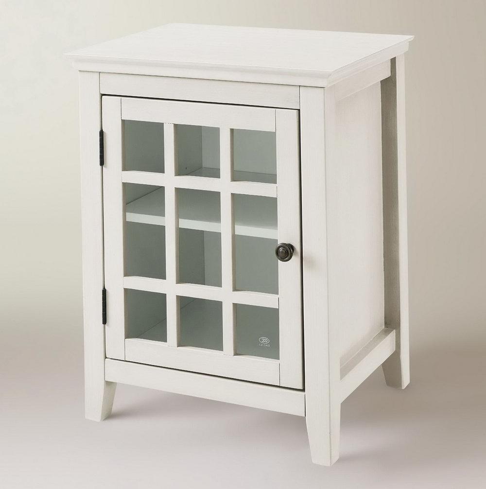 Antique White Storage Cabinet