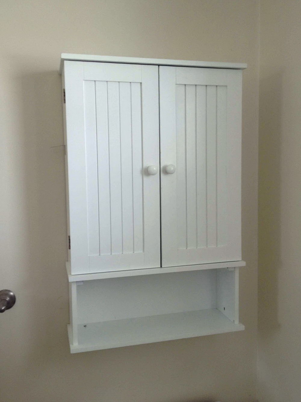 Bathroom Storage Wall Cabinet In White