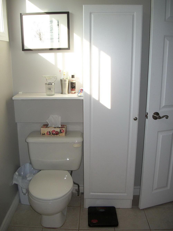 Behind Toilet Storage Cabinet