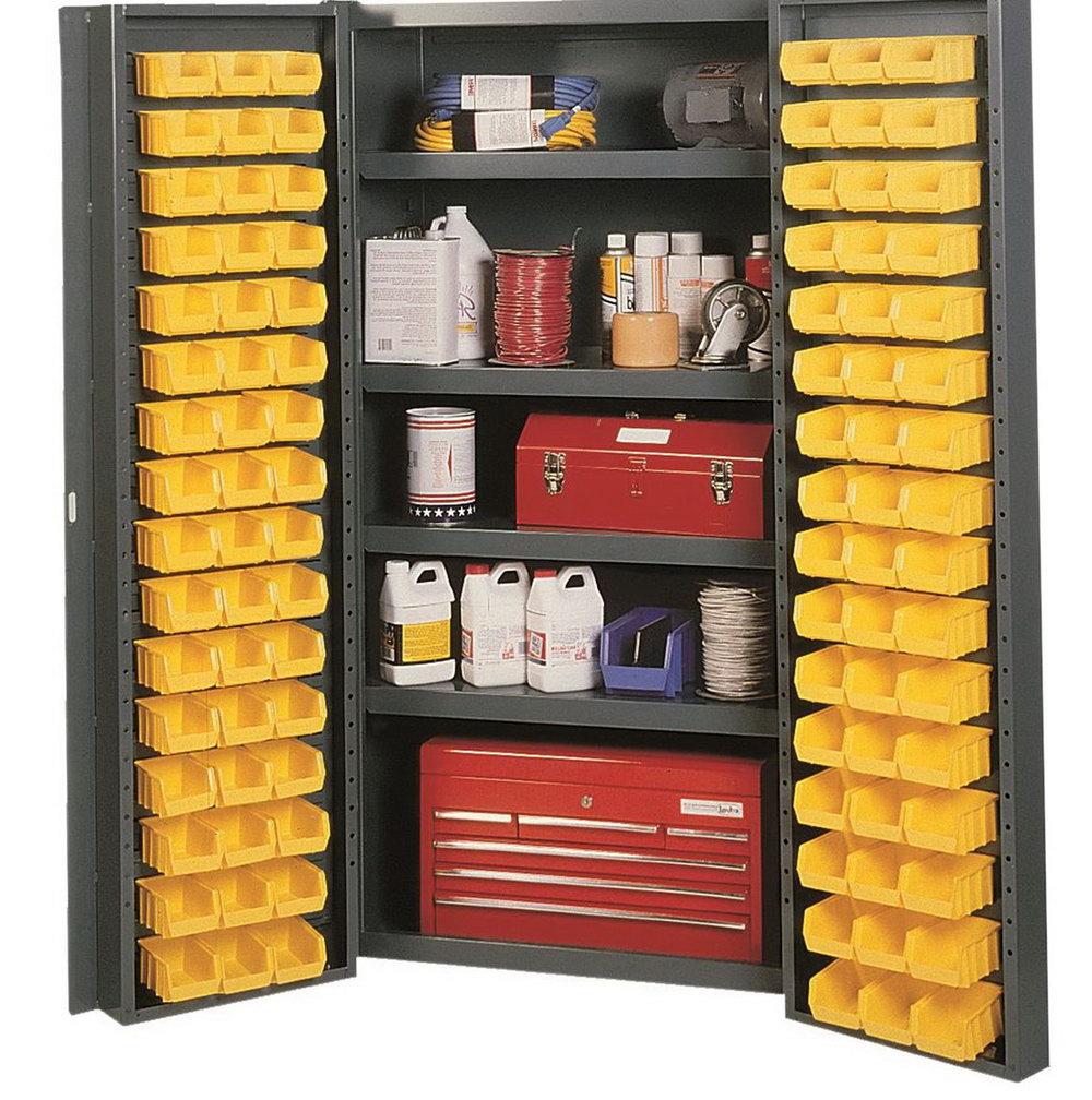 Bin Storage Cabinet With Shelves