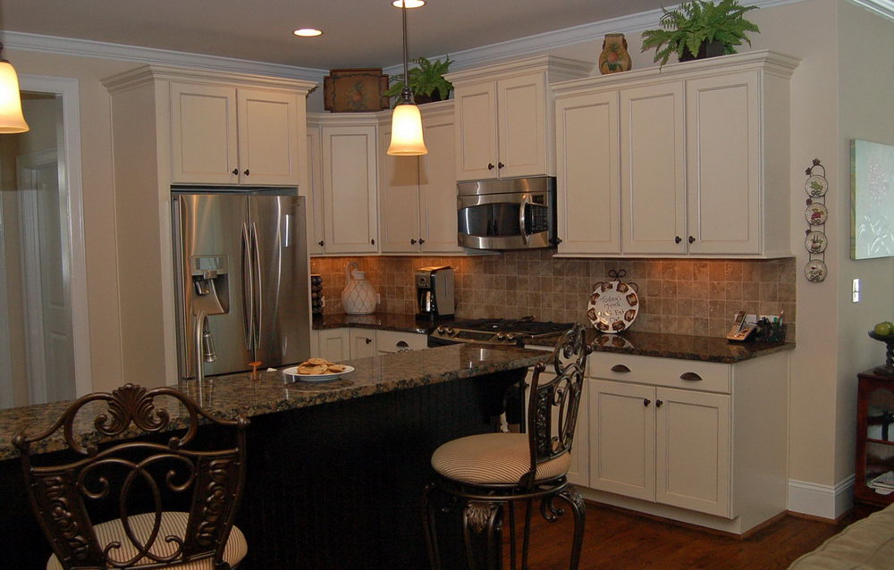 Black Antique Kitchen Cabinets