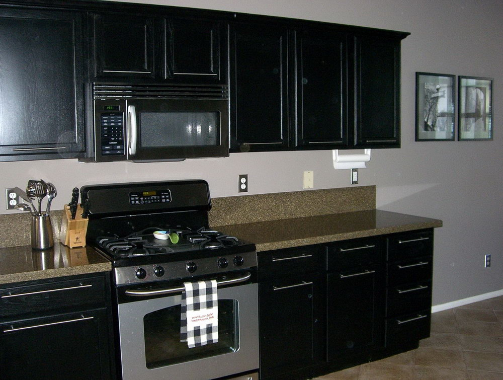 Black Kitchen Cabinets With Black Appliances