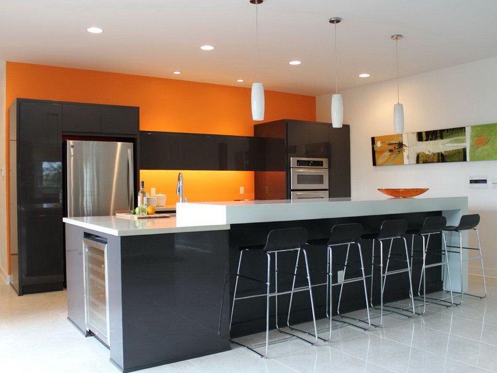 Blue Kitchen Cabinets With Yellow Walls
