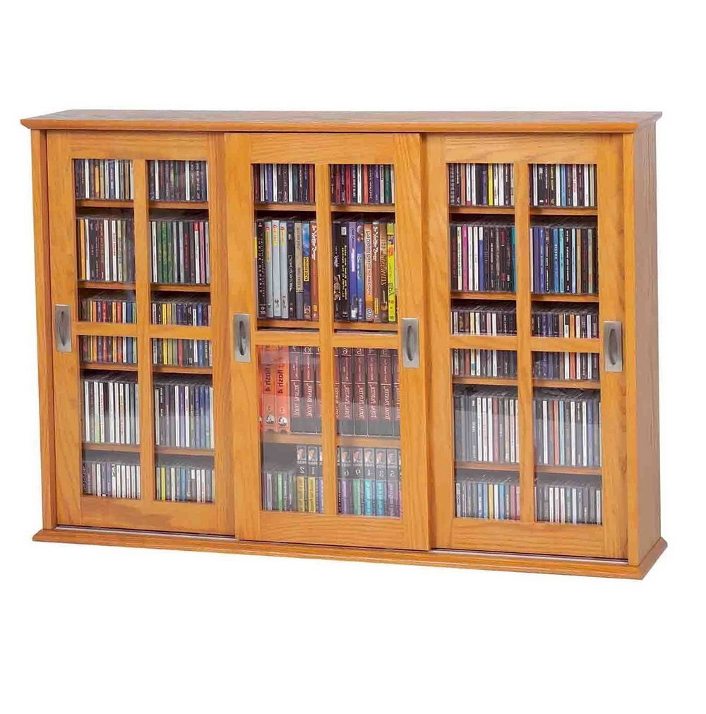 Cd Storage Cabinets With Glass Doors