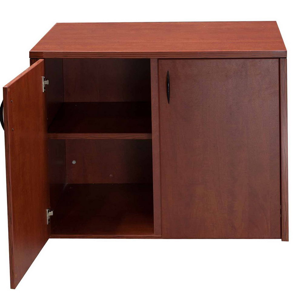 Cherry Wood Storage Cabinet With Doors