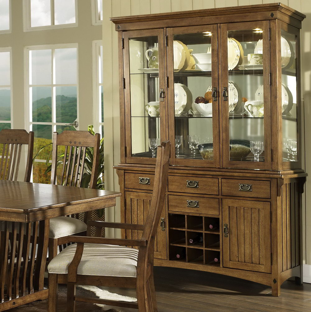China Cabinet With Wine Storage