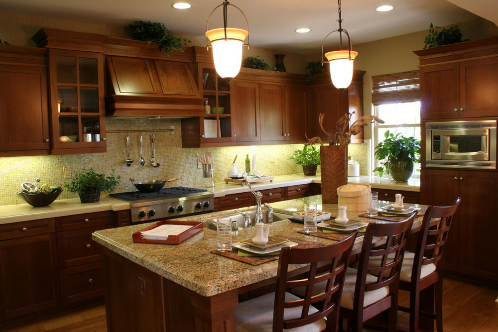 Dark Kitchen Cabinets With Glass Doors
