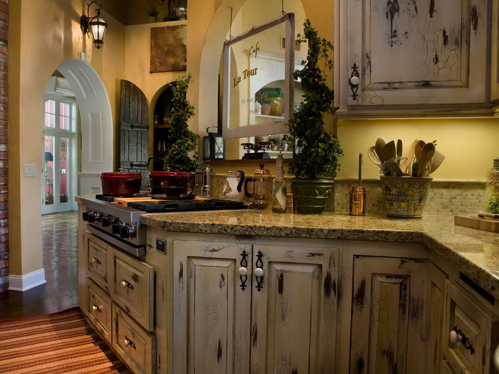 Distressed Kitchen Cabinets Images