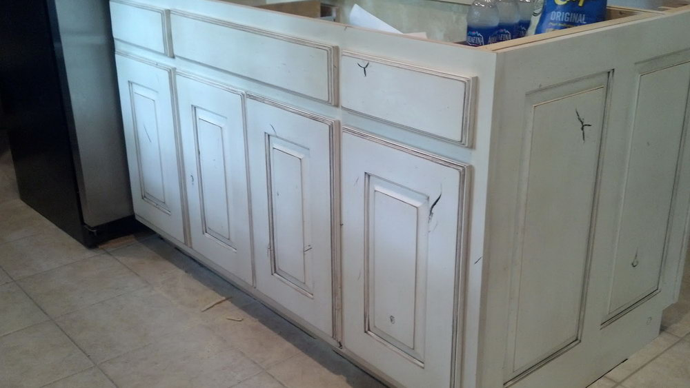 Distressed Kitchen Cabinets With Chalk Paint