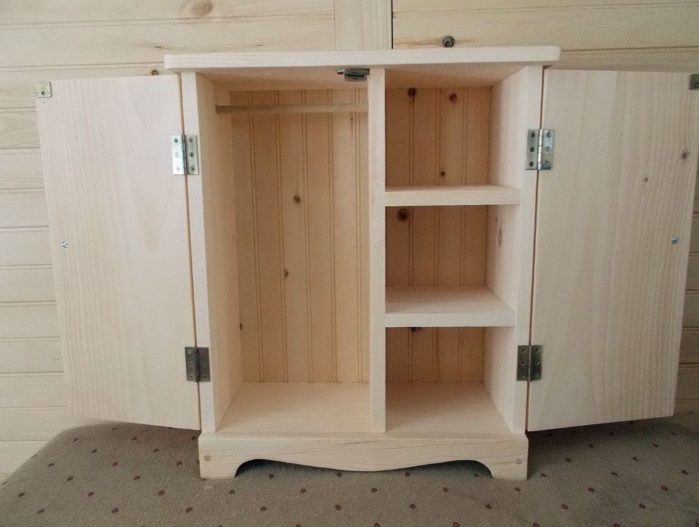 Doll Clothes Storage Cabinet