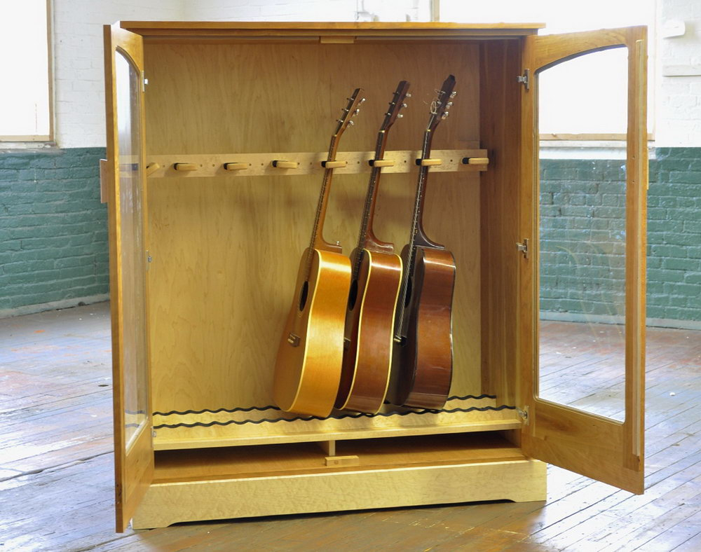Guitar Storage Cabinet Furniture