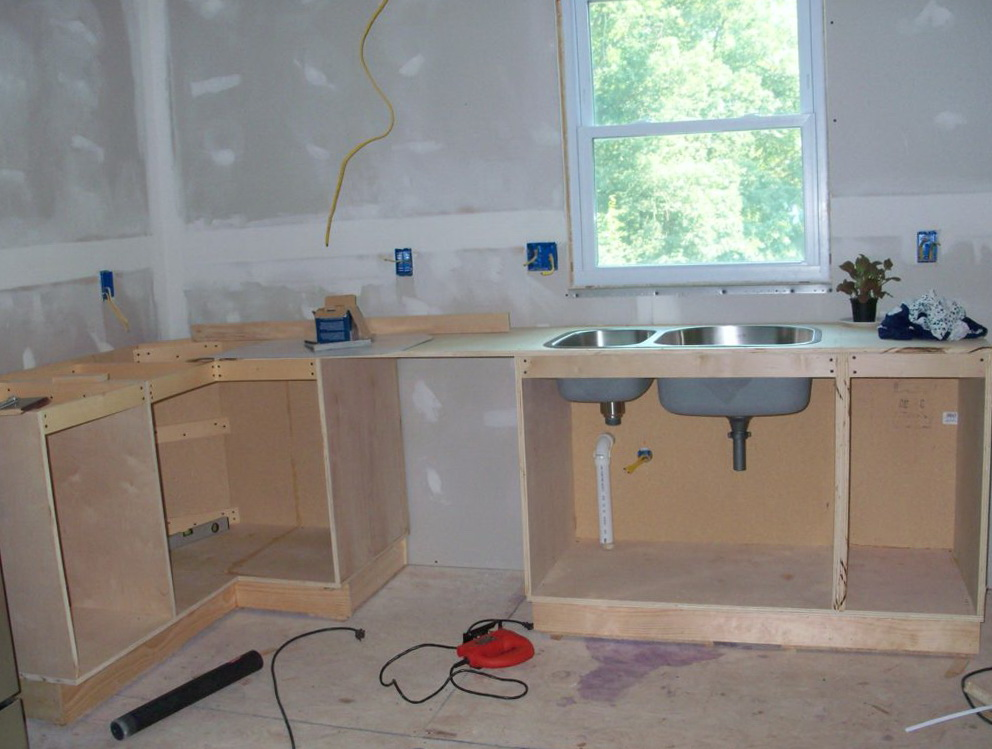 How To Build Kitchen Base Cabinets