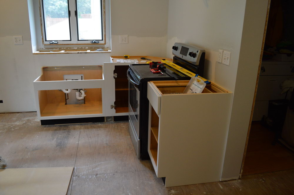 Installing Kitchen Cabinets No Studs