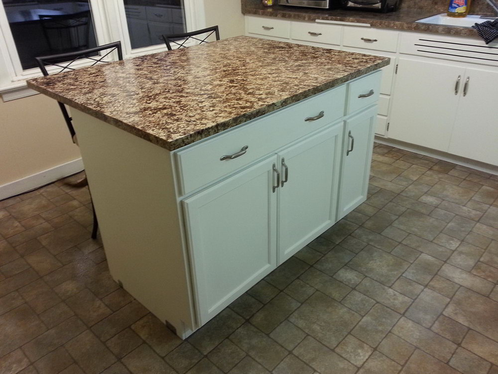 Kitchen Island Made From Cabinets
