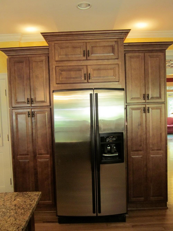 Kitchen Pantry Cabinet Around Refrigerator