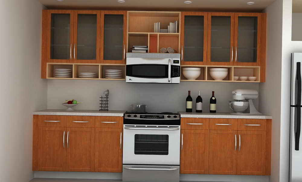 Kitchen Wall Cabinets With Glass