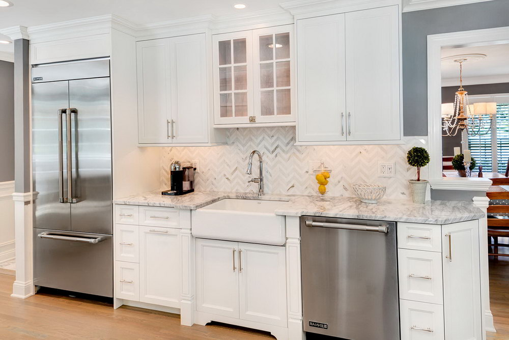 Kitchens With White Cabinets And White Appliances