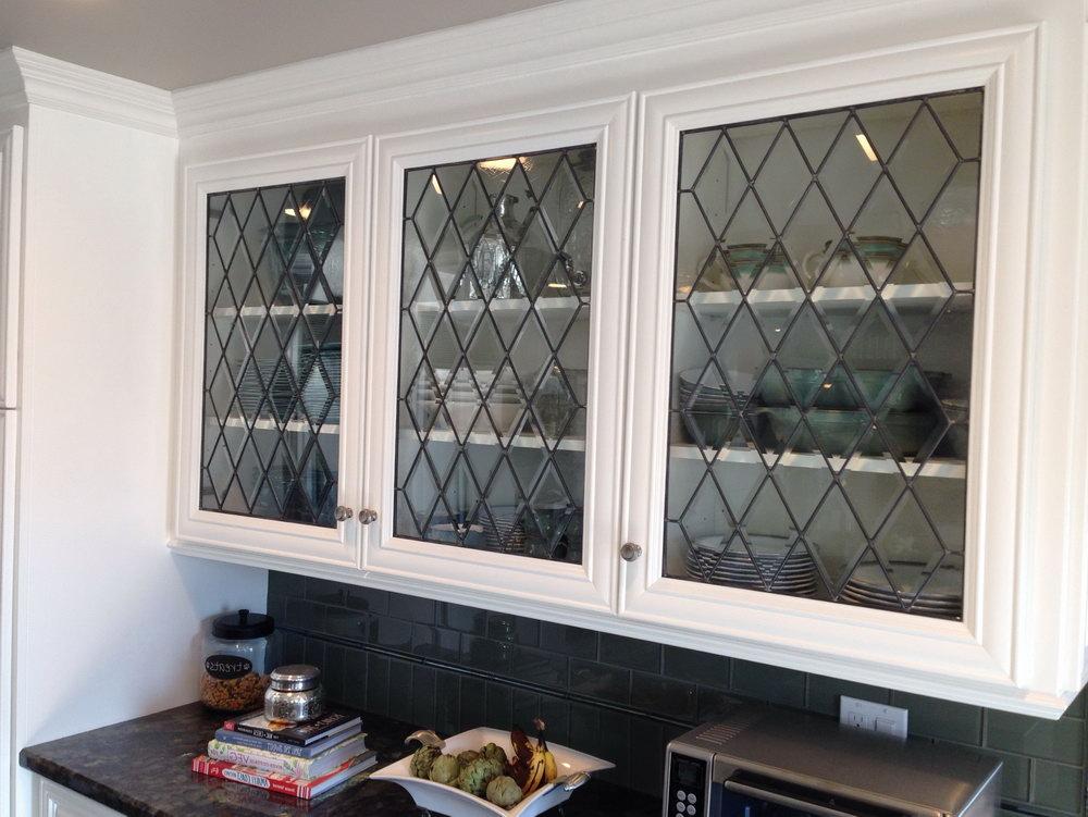 Leaded Glass Kitchen Cabinet Doors