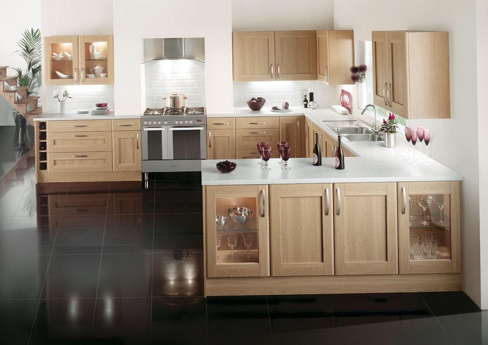 Oak Shaker Kitchen Cabinets