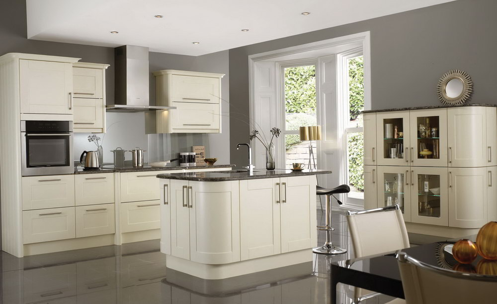 Off White Kitchen Cabinets And Granite Countertops