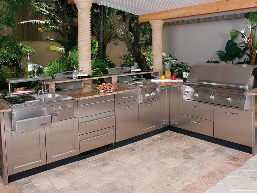 Outdoor Kitchen Cabinets Kits
