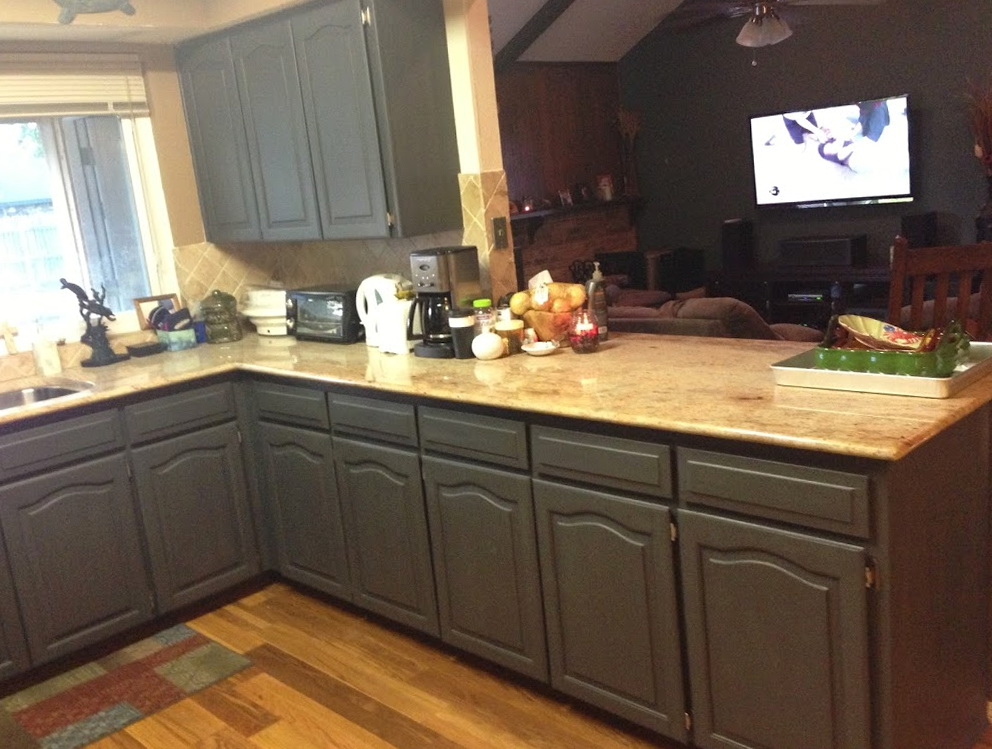 Painted Kitchen Cabinets Grey