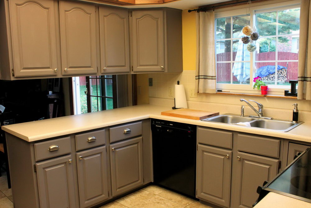 Painting Kitchen Cabinets White Before And After