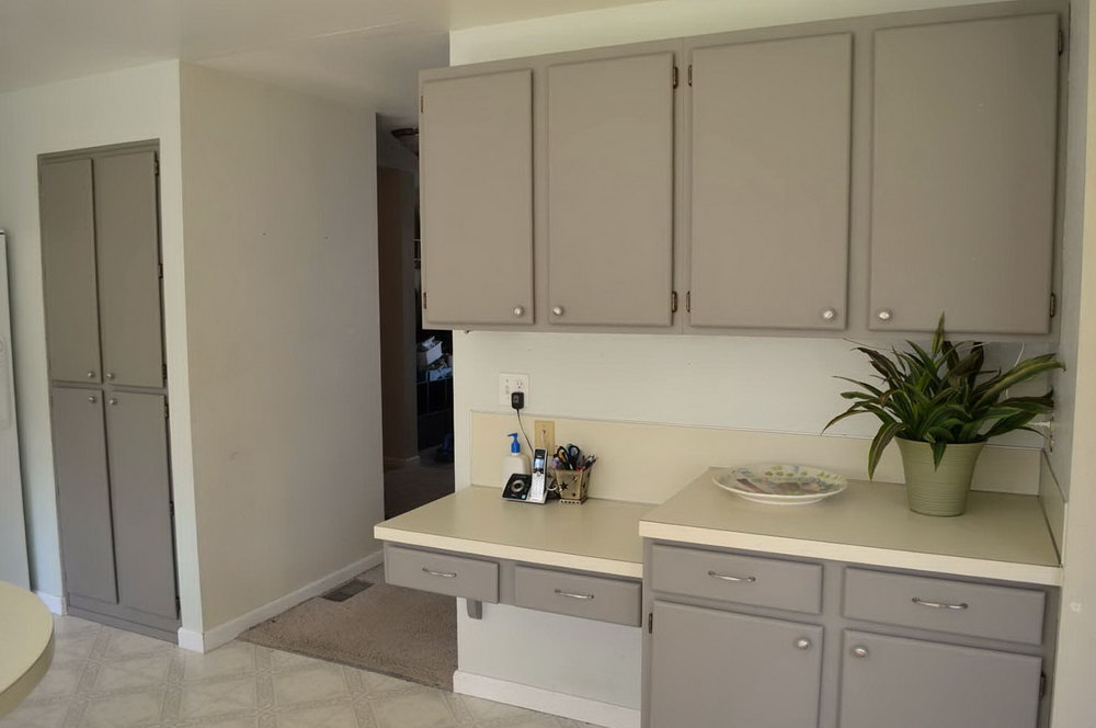 Painting Oak Kitchen Cabinets White Before And After