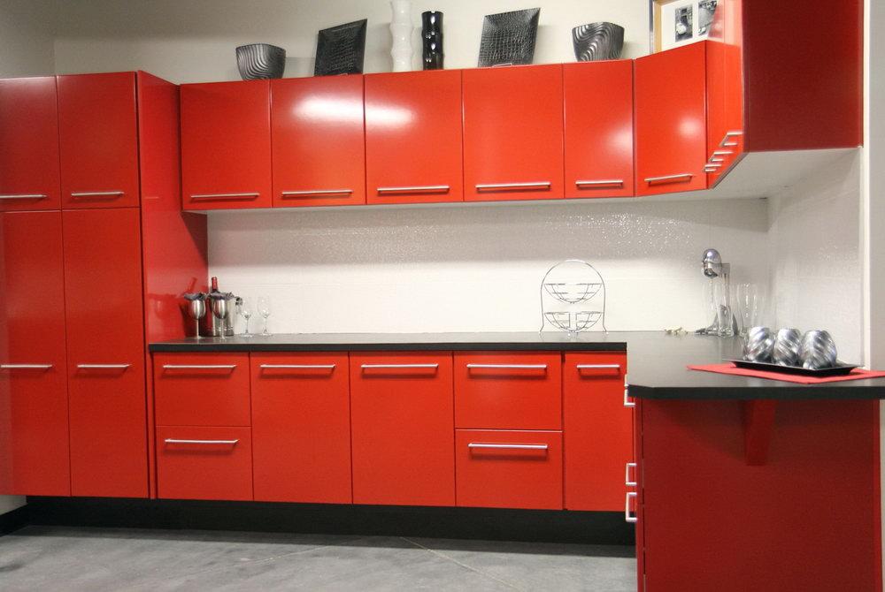 Red Kitchen Cabinets Ideas