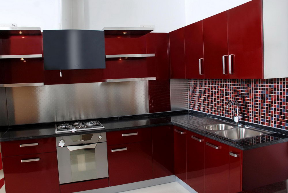 Red Kitchen Cabinets What Color Walls