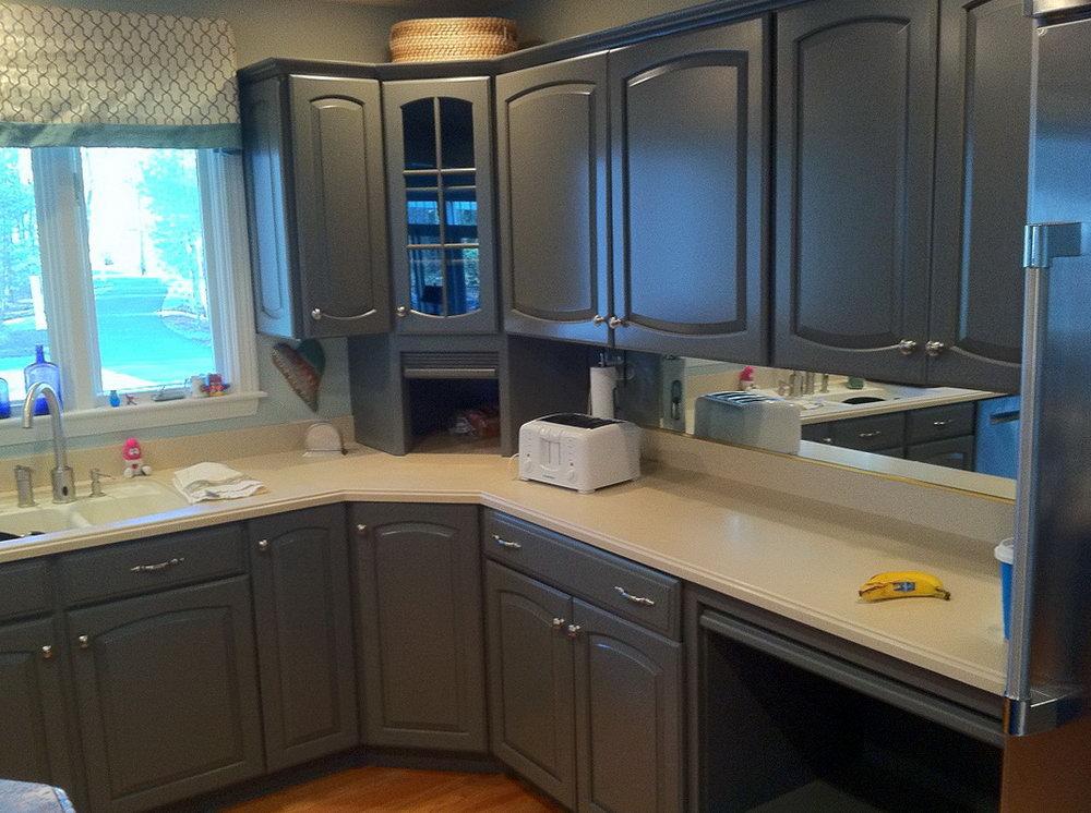 Refinishing Kitchen Cabinets Grey