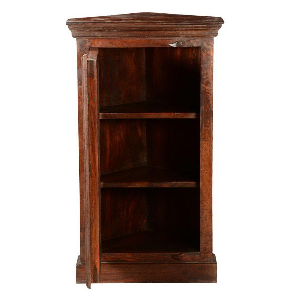 Rustic Corner Storage Cabinet