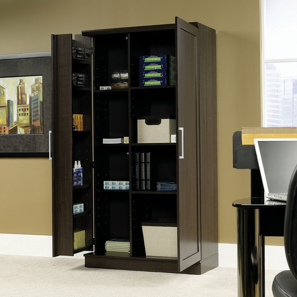 Sauder Homeplus Storage Cabinet Dakota Oak Finish