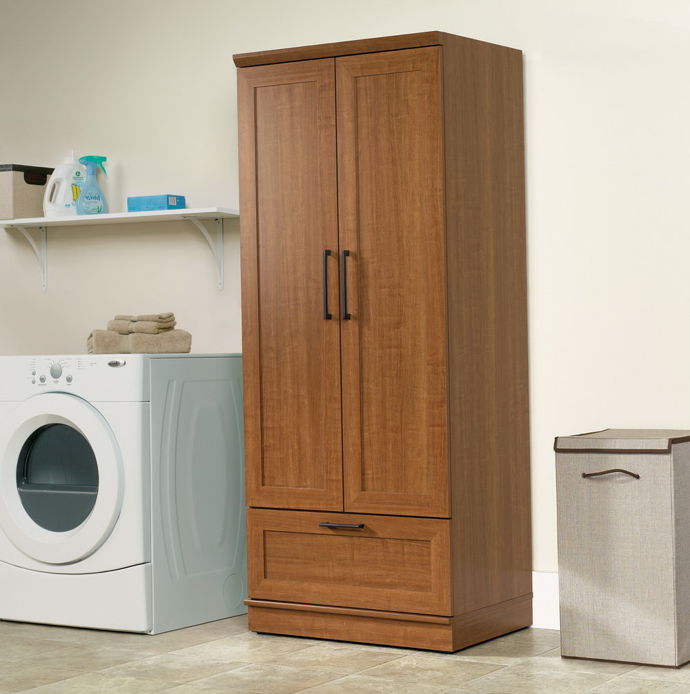 Sauder Homeplus Storage Cabinet Dakota Oak