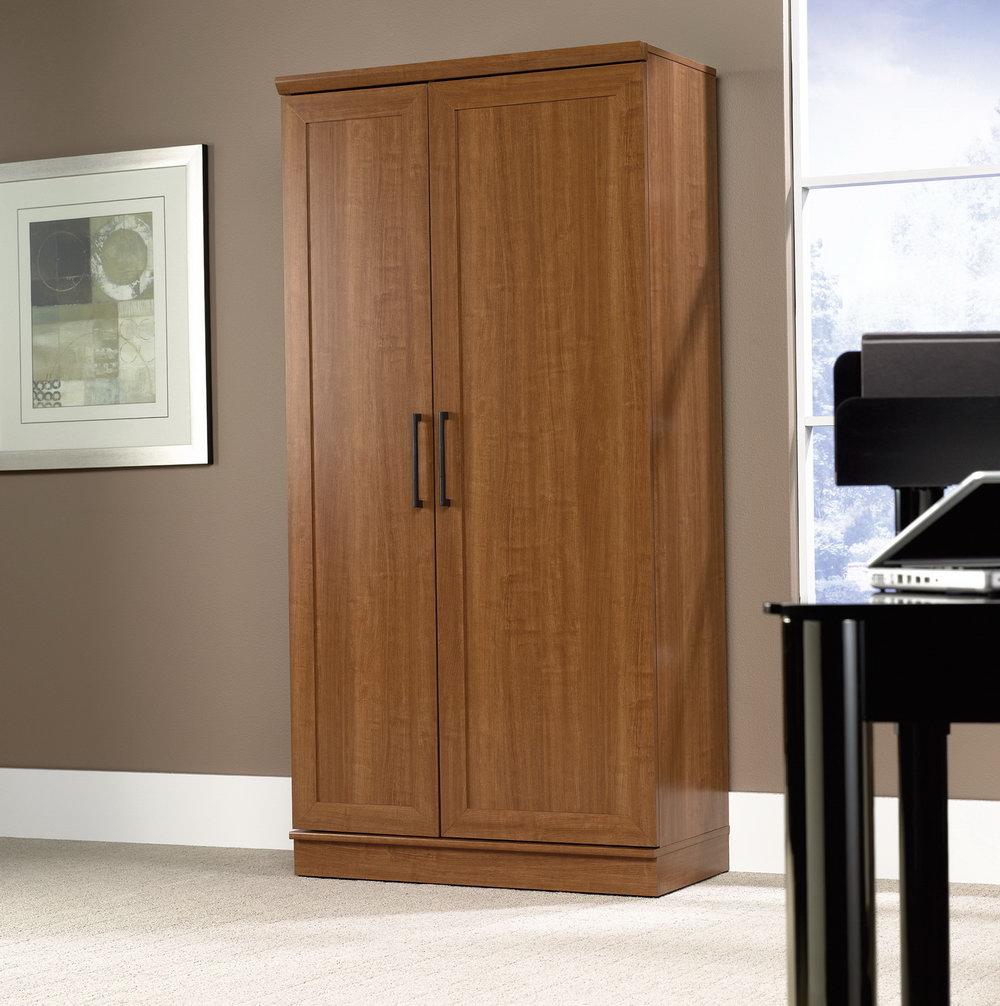 Sauder Homeplus Storage Cabinet Sienna Oak